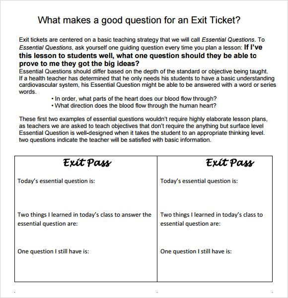Exit Ticket Ideas Teaching Finds Pinterest Ticket - exit ticket template