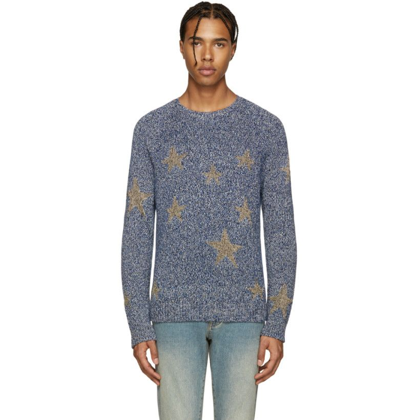 Navy & Gold Stars Sweater | Products, Mens products and Sweaters