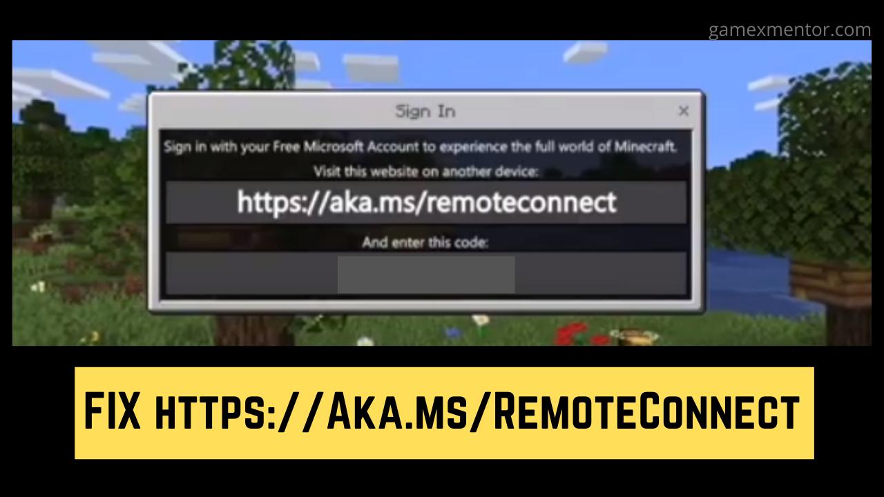 Https Aka Ms Remoteconnect Minecraft