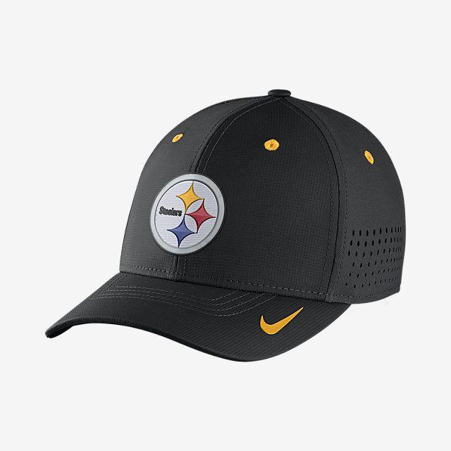 4b789935 Nike Legacy Vapor Swoosh Flex (NFL Steelers) Fitted Hat. Nike.com ...