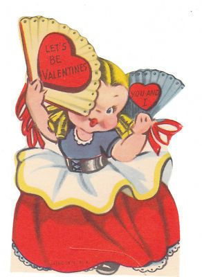 Vintage Valentine Card  eBay  Illustration  Pinterest  Vintage