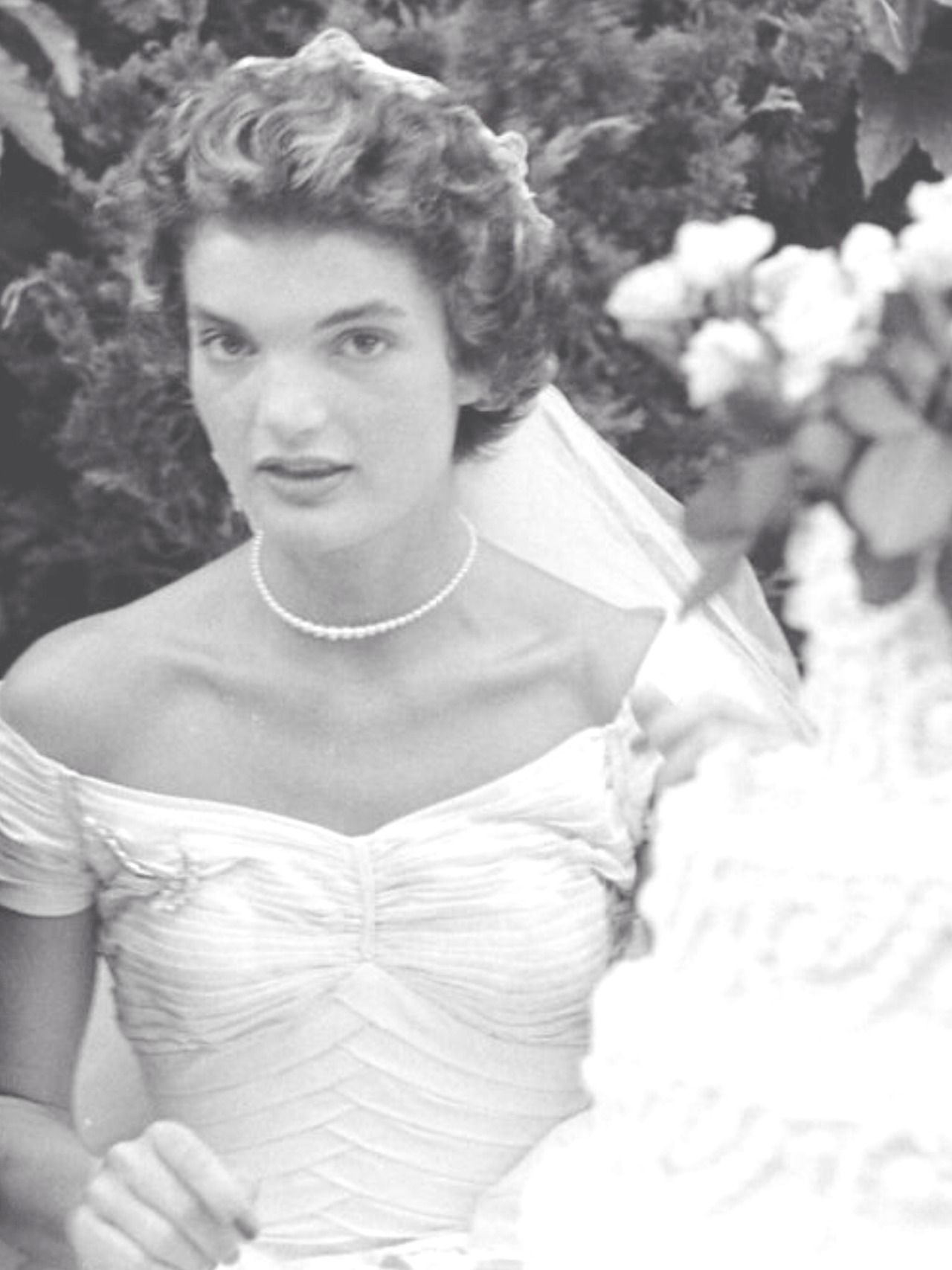 The wedding dress of Jacqueline Bouvier was worn by Jacqueline ...