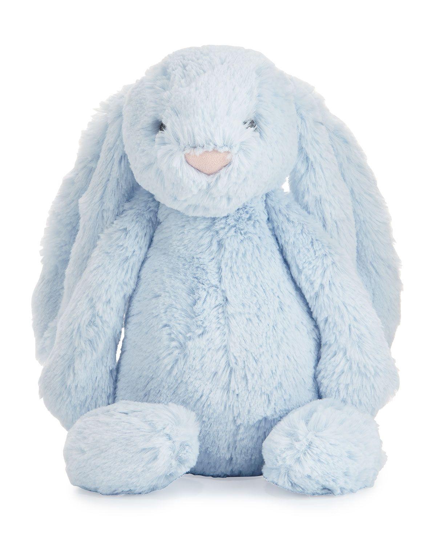 Jellycat Plush Bashful Bunny Chime Stuffed Animal Blue Cute
