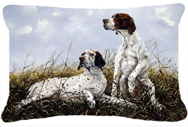 English Pointer By Michael Herring Fabric Decorative Pillow Hmhe0011pw1216 Carolines Treasures English Pointer Outdoor Door Mat