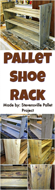 Wooden pallet craft projects - Wood Pallet Shoe Rack