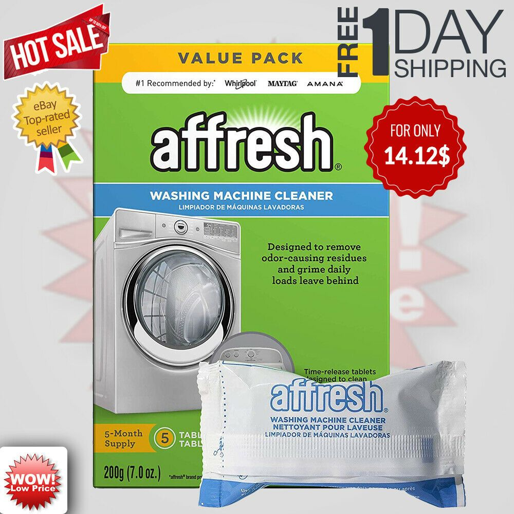 Affresh Finally Fresh Washing Machine Cleaner 5 Tablets White 5