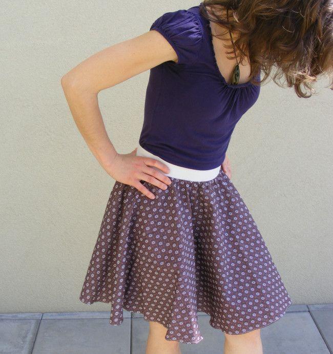 Jak ušít kolovou sukni s pružným pasem  94e2412bd6