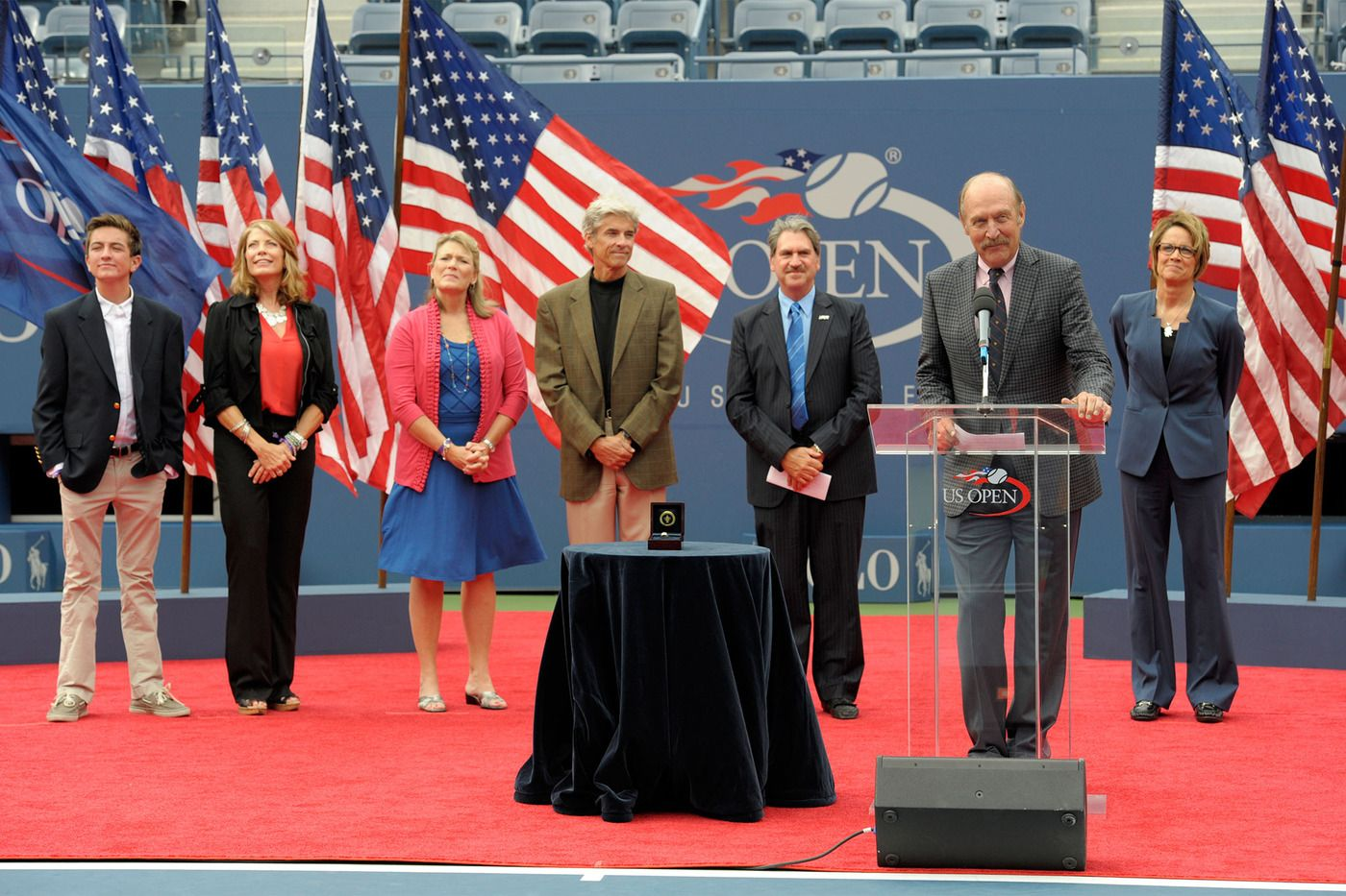 The family of Tony Trabert, as well as USTA President Dave