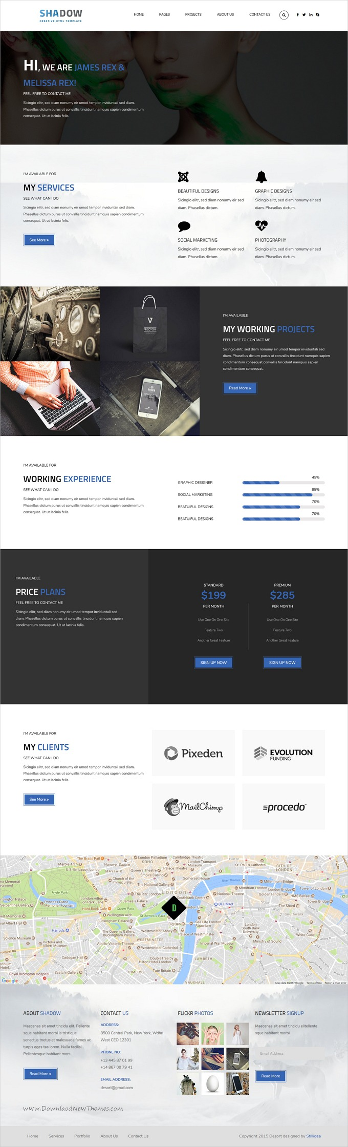 Shadow Is Clean And Modern Design Responsive Bootstrap Template