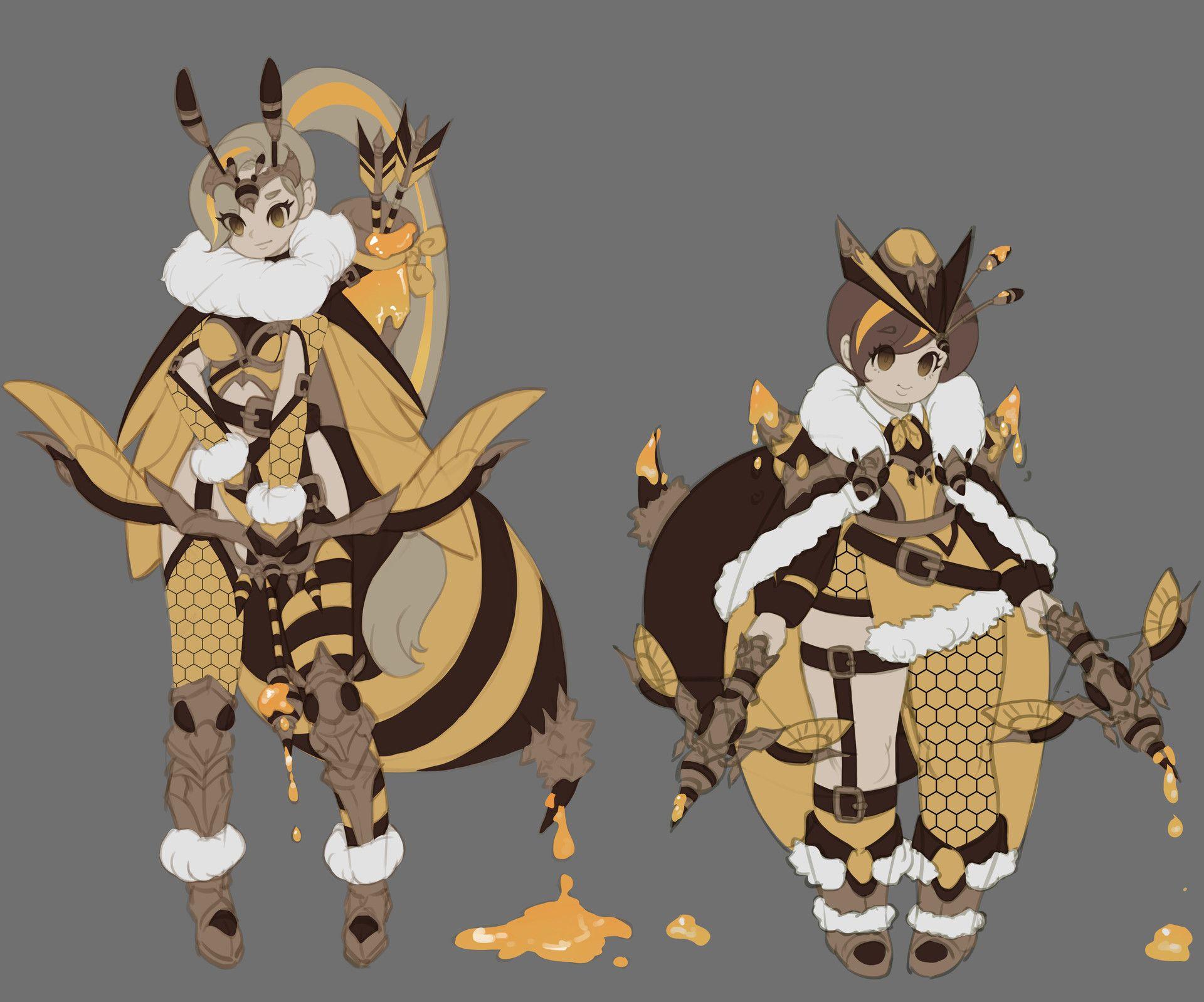 ArtStation Honey flight, Shasha . Character design