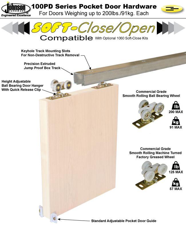 Johnson Hardware 174 100pd Pocket Door Hardware Door