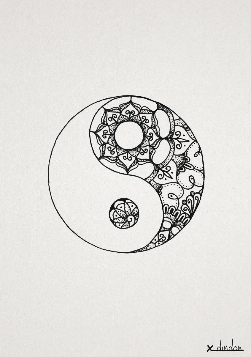 84cba6f10 Yin Yang | Tattoo ideas | Mandala tattoo, Yin yang tattoos, Tattoos