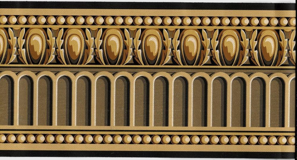 Victorian Architectural Molding Look Brown WALLPAPER