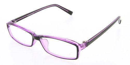 Purple rimmed glasses