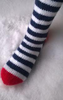 Wool socks, villasukat raidoilla