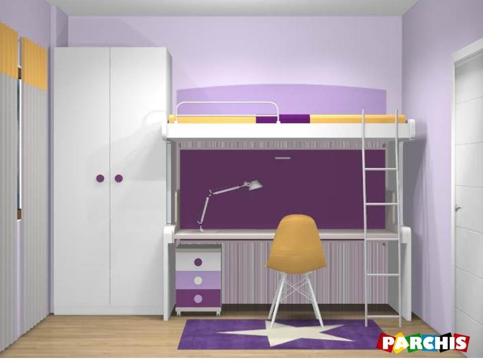 Modelos de camas litera con escritorio abajo buscar con - Cama con escritorio abajo ...