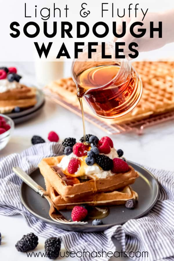 These Fluffy Crisp Sourdough Waffles Have The Most Amazing Flavor And Texture And Are Made With Your Sourdough Discard So In 2020 Waffles Breakfast Brunch Recipes Eat