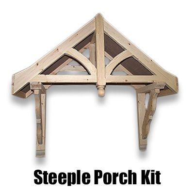 Porch Kit – 1200mm Apex Porch Canopy | Timber frame in ...