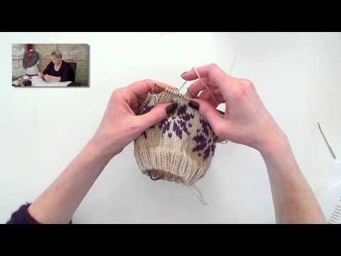 Fair Isle Knitting - Carrying Floats- Two hands - YouTube | Knit ...