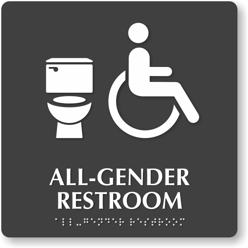 Time For Companies In California To Be Percent Restroom Sign - Gender neutral bathroom signs california