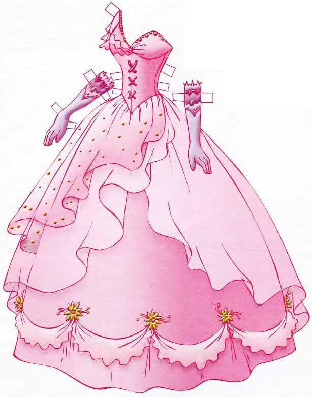 бумажная кукла для вырезания раскраска | Бумажные куклы ...