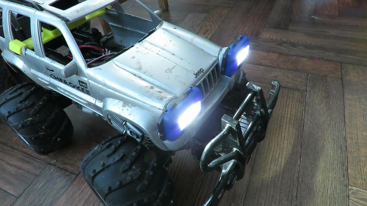 Poundland Headlights On My Rc Jeep Cherokee In 2020 Rc Jeep