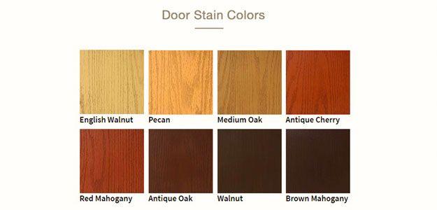 Fiberglass Door Stain Color Swatches Fiberglass Entry Doors Stain Colors Entry Doors