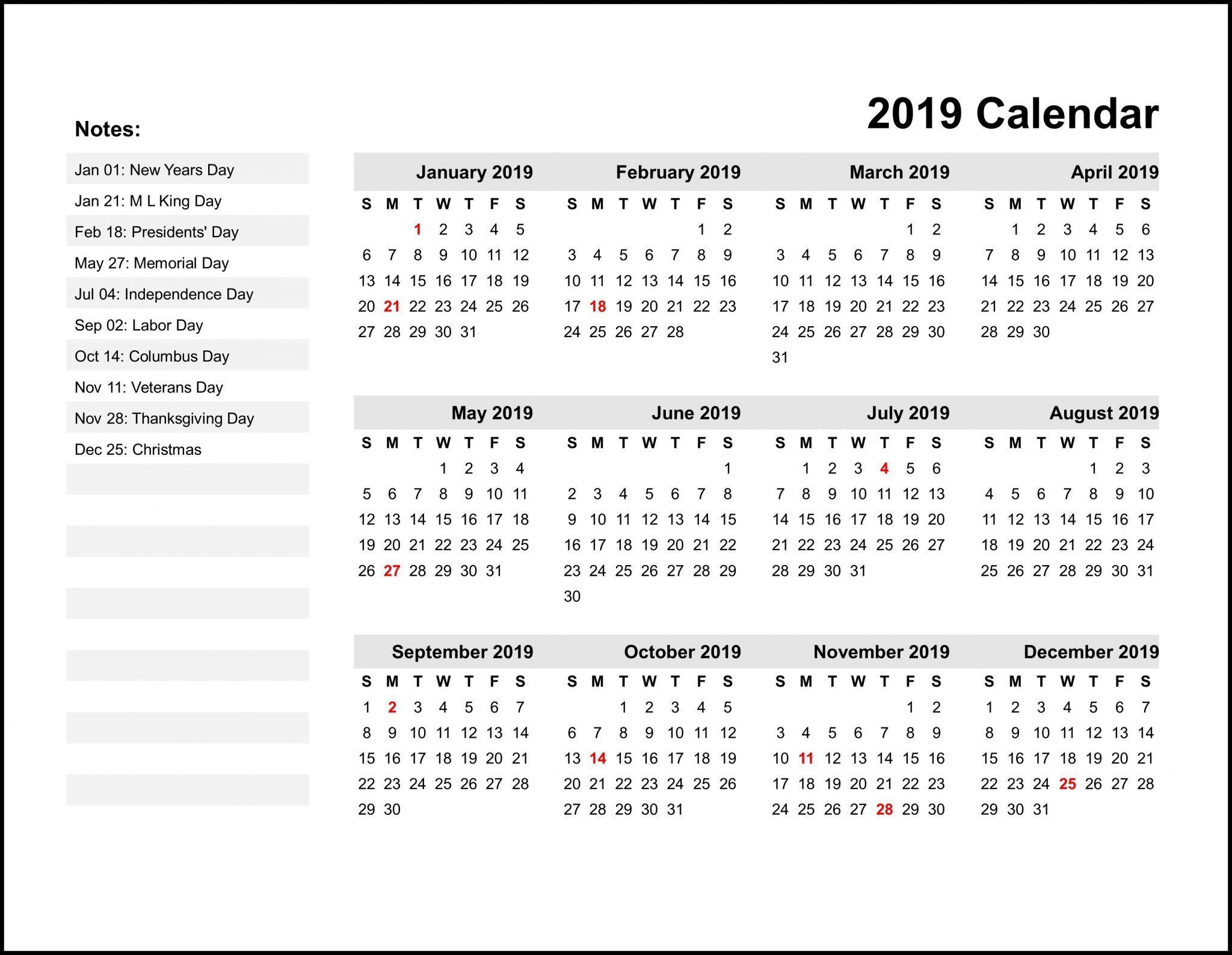 Calendar 2019 India Holidays Printable Yearly Calendar Calendar Printables Monthly Calendar Printable