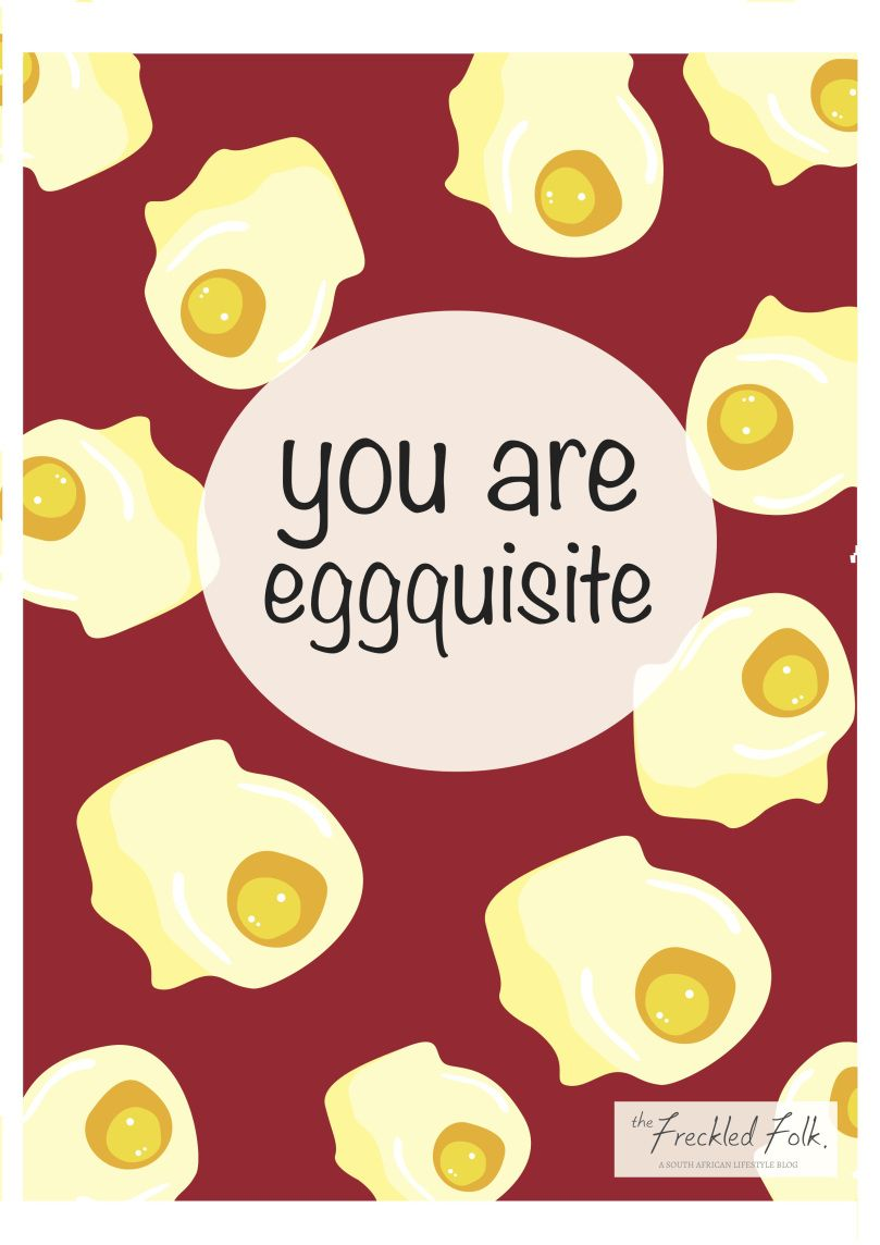 Cute Valentines Day card printable, print, pineapple, eggs ...