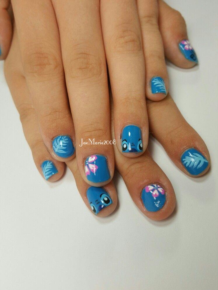 """stitch"" nail art jaemarie2008"