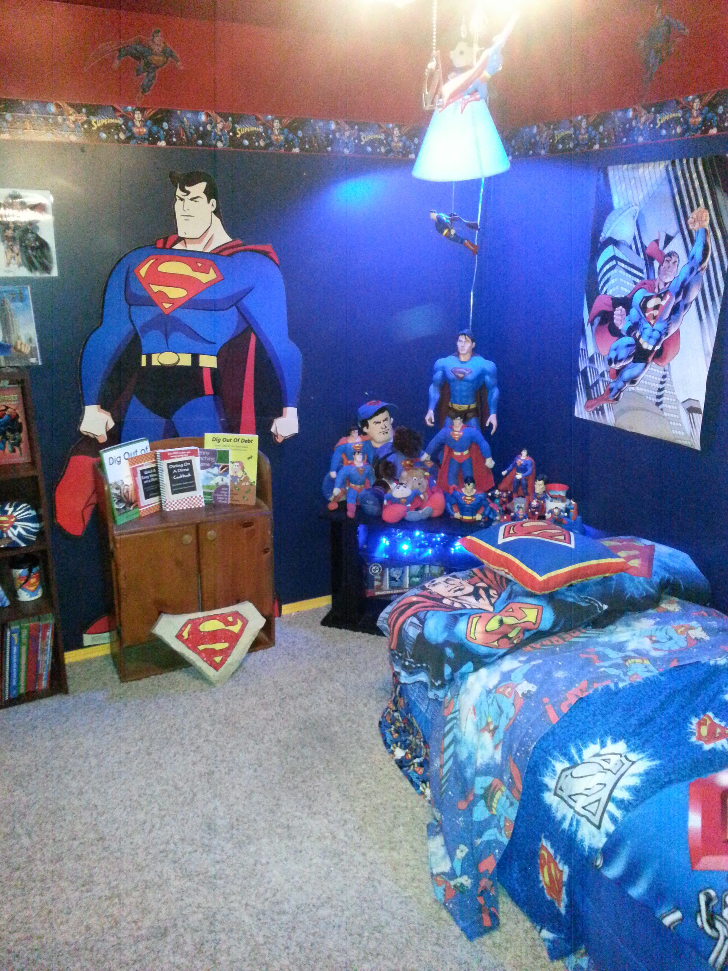 Superman Themed Bedroom Superman Room  Decorate  Pinterest  Superman Room Room And