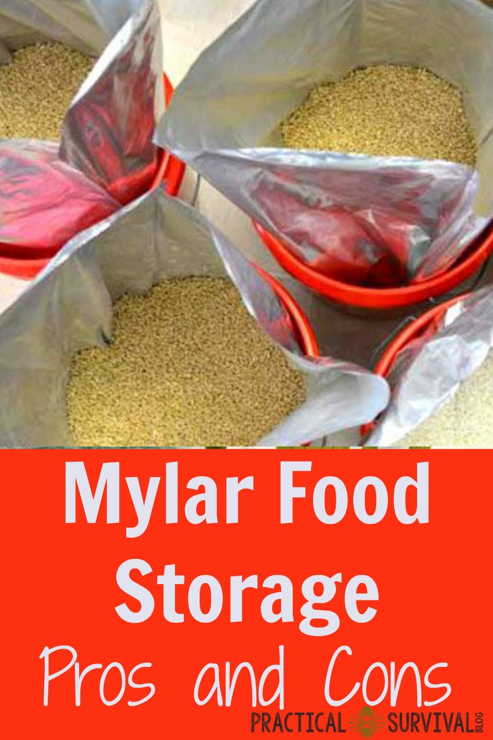 Mylar Food Storage - great help deciding if I should use mylar bags for long term food storage or not. & Pros and Cons of Mylar Storage Bags | Long term food storage Food ...
