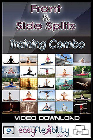 front  side splits training  pole dance moves