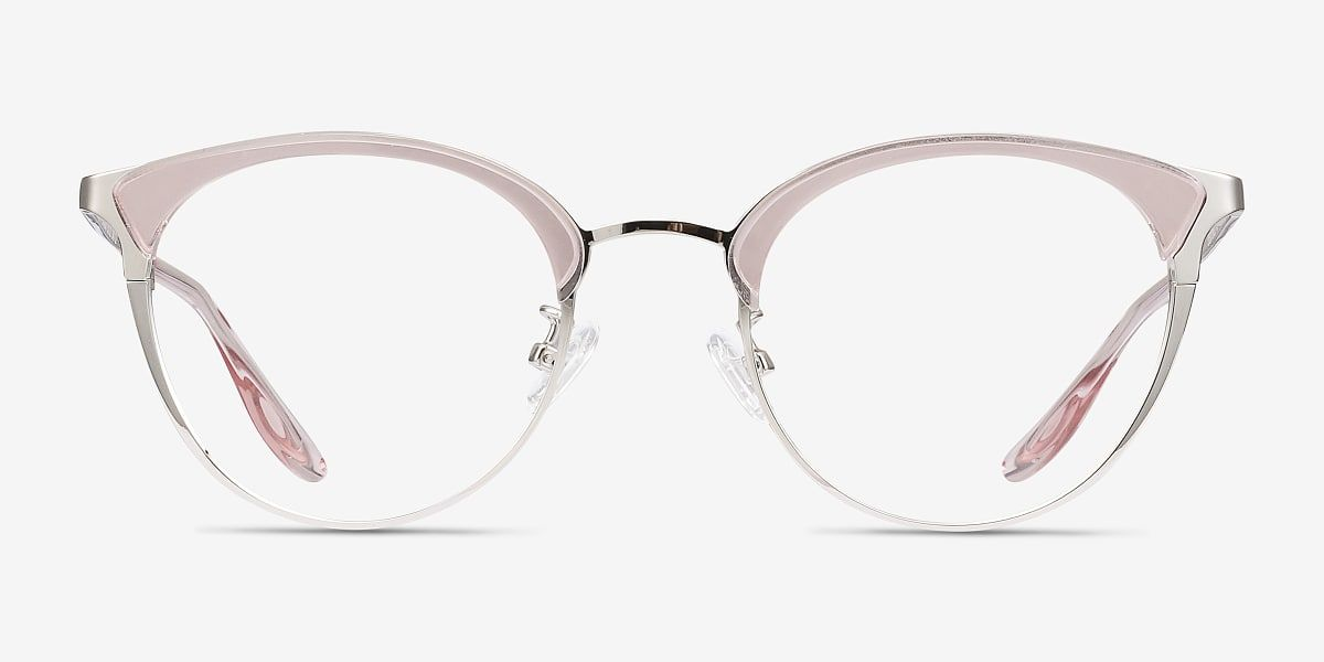 Bouquet Round Floral Silver Frame Glasses For Women Eyebuydirect Eyebuydirect Eyeglasses For Women Silver