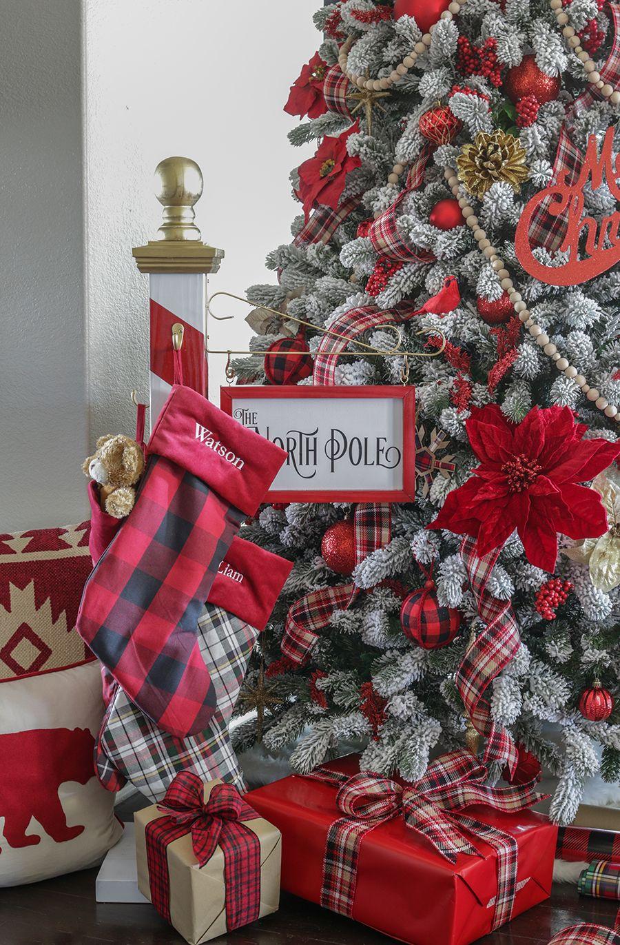 North Pole Christmas Stocking Holder Christmas