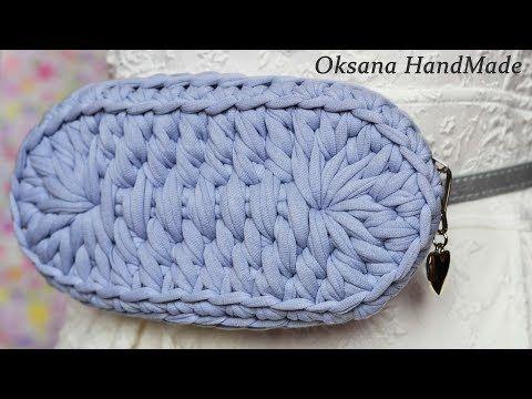 fecc9f20c2c5 Поясная сумка из трикотажной пряжи. 2/2 часть МК. Crochet waist bag -  YouTube