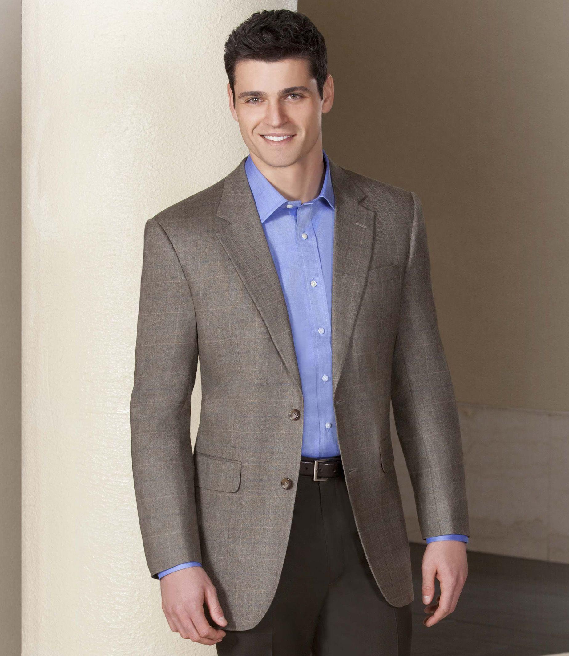 Executive 2-Button Silk/Wool Windowpane Sportcoat | Cruisin ...