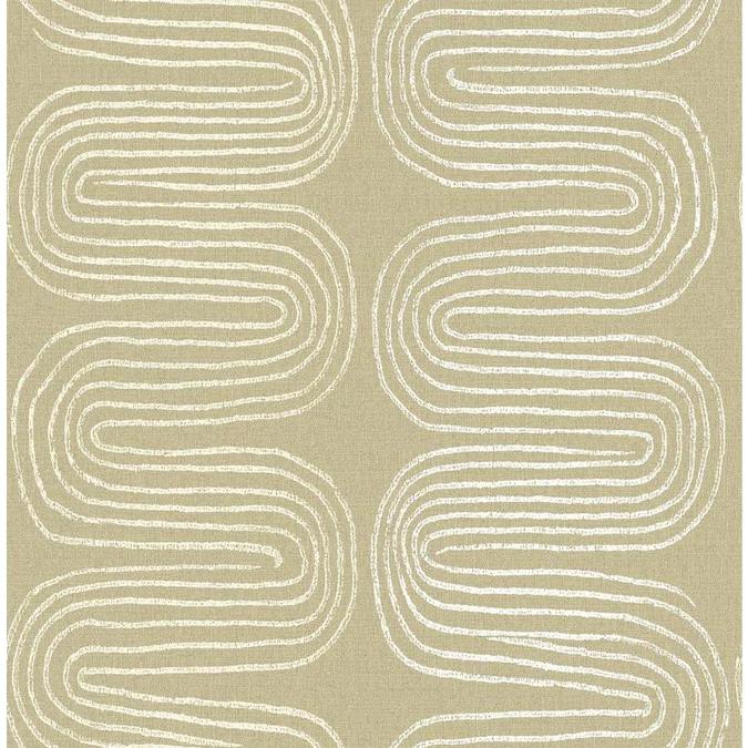 Sebastian Monk 56 4 Sq Ft Honey Non Woven Abstract Unpasted Wallpaper Lowes Com Striped Wallpaper Brewster Wallpaper Wallpaper Samples