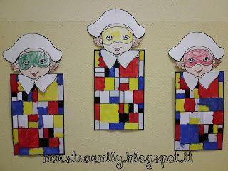 Geometria Bambini ~ Maestraemily: carnevale in arte! forme geometriche pinterest