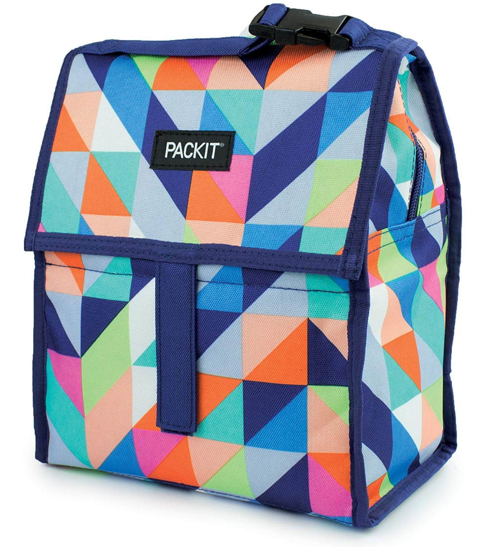 Amazon Com Packit Freezable Lunch Bag With Zip Closure Catty