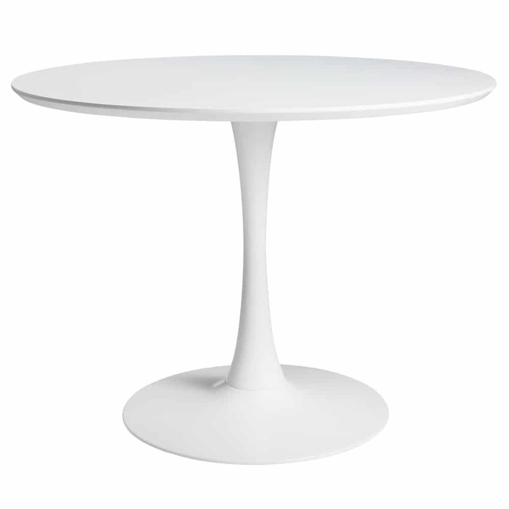 Table à manger ronde blanche 4/5 personnes D100 | Maisons du Monde