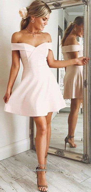 Pink Formal Dresses 2019 Short Prom Dresses With Cap Sleeves A