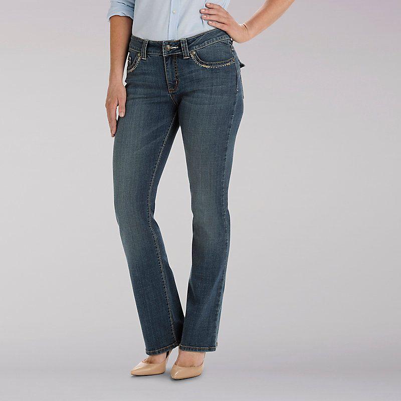 Lee slender secret bootcut jeans black