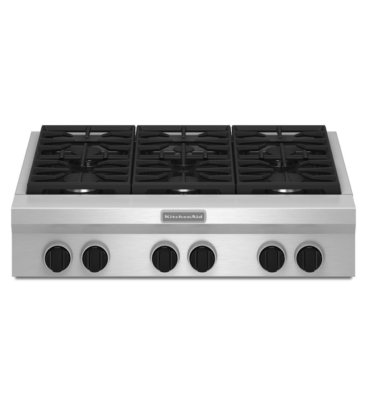 KitchenAid® 36-Inch 6-Burner Gas Rangetop, Commercial
