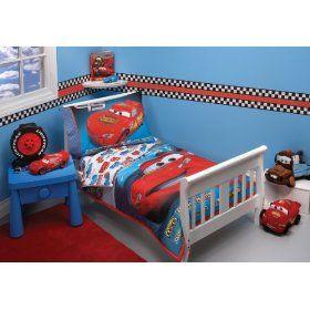 Disney 4 Piece Toddler Bedding Set Toddler Bed Lightning Mcqueen Car Bed Disney Cars Kids Furnitu Toddler Bed Set Car Themed Bedrooms Disney Cars Bedroom