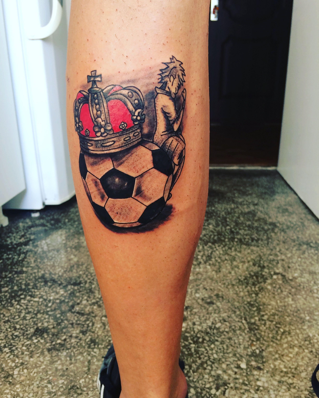 Neymar on football and crown tattoo | Tattoos (my work) | Pinterest