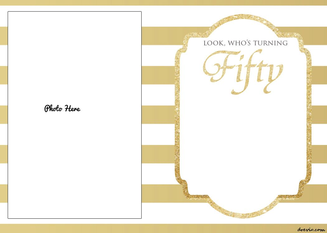FREE Printable 50th Birthday Invitations Template | Drevio ...