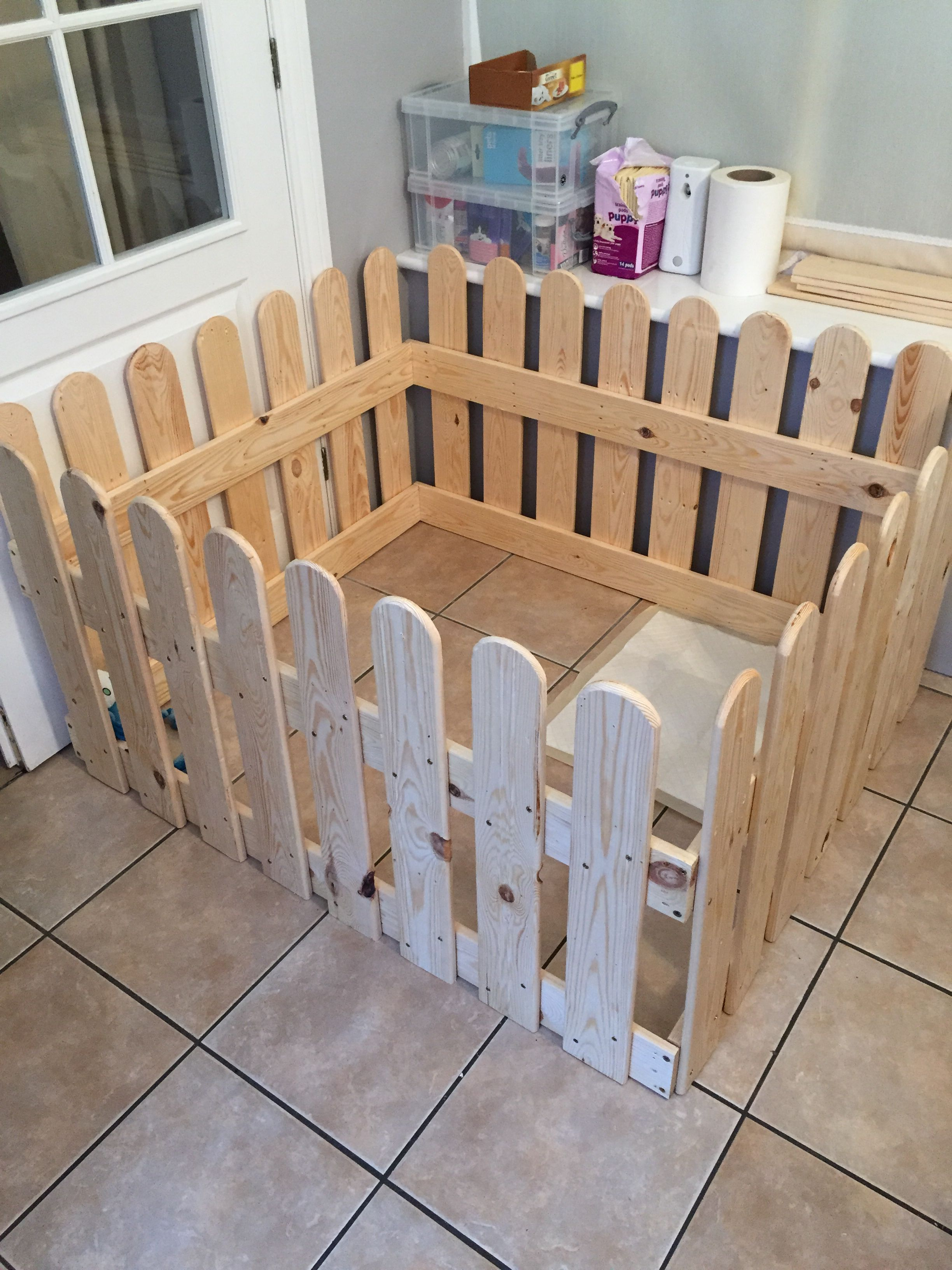 Wooden Puppy Dog Pen Made From Old Pallets Projects