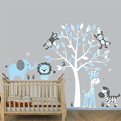 Jungle Purple, Jungle Tree Wall Decals, Jungle Stickers, Vinyl Tree
