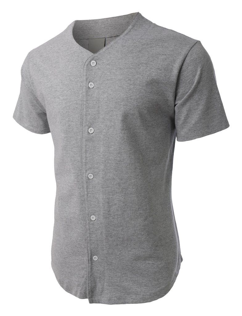 lowest price ef902 ad88c PREMIUM Mens Heavyweight Short Sleeve Button Up Baseball ...